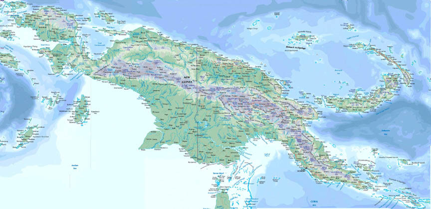 Download this Map New Guinea picture